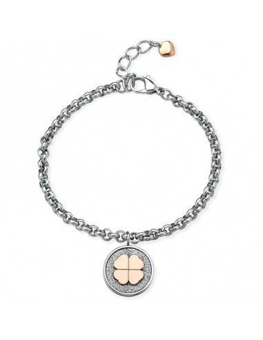 BRACCIALE OPS!GLITTER COIN FOURLEAF SS