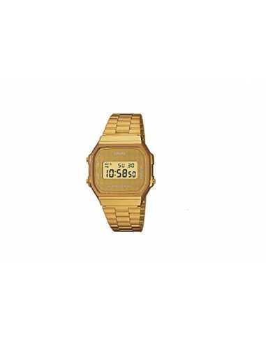 Casio Orologio Digitale al Quarzo Donna con Cinturino in Acciaio Inox A168WG-9BWEF