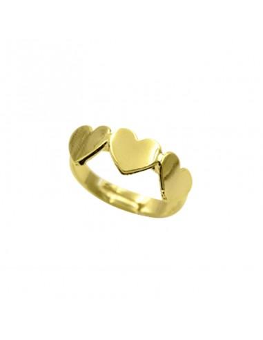 Kemira Ring Woman Bronze Hearts Gold...